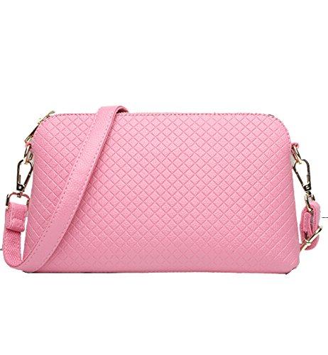 Yy.f Tracolla Messenger Interno Pacco Losanga Frizione Di Modo Esterno Pratico Multicolore Pink