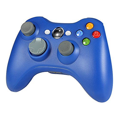 Wetoph Kabellos Controller für Xbox 360, GD01 PC Gamepad Joysticks Controller Integrierte Dual Vibration Blau