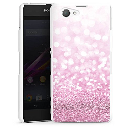 sony-xperia-z1-compact-hulle-schutz-hard-case-cover-glitzer-look-pink-glanz