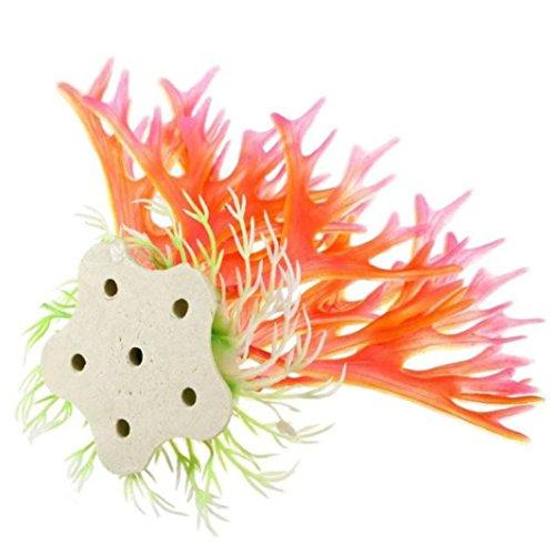 Winkey Home Wohnzimmer Aquarium unschädliches Unkraut Wasser Ornament Deko Kunstblume Kunstpflanze Fisch Tank