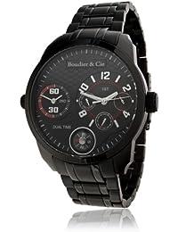 Boudier & Cie Herren-Armbanduhr  mit analoge Anzeige - Edelstahlarmband und Edelstahlgehäuse 48 mm - OZG1073