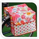 Fahrradtasche Blumenmotiv weiß rot Gepäckträgerdoppeltasche Fahrrad Tasche NEU, Farbe:Weiß