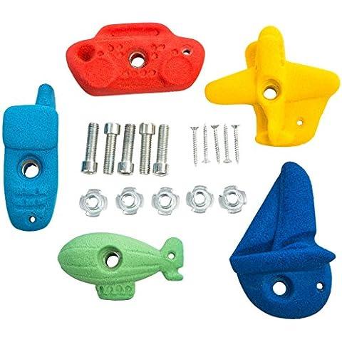Ultrakidz - Set de presas de escalada, diferentes formas y motivos en distintos colores, diseño