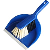 Bürstenmann Dustpan Set with Plastic Body and Synthetic Bristles, Blue