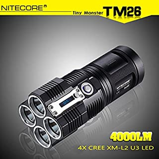 ADAALEN NiteCore TM26 4x CREE XM-L2 U3 4000LM LED Taschenlampe 2015