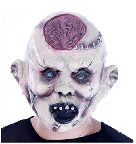 r Grimasse Gehirn Gehirn Maske Latex setzt Kopf Mumie Furchtsam Schlechtes Gesicht Zombie Abschlussball Show Requisiten- Lustige Maske (Kühlen Mumie Kostüm)