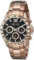 SO & CO New York 5001.4 - Reloj de cuarzo para mujeres, rosado de Diamant Feuer
