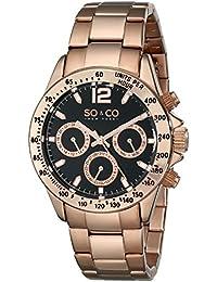 SO & CO New York 5001.4 - Reloj de cuarzo para mujeres, rosado
