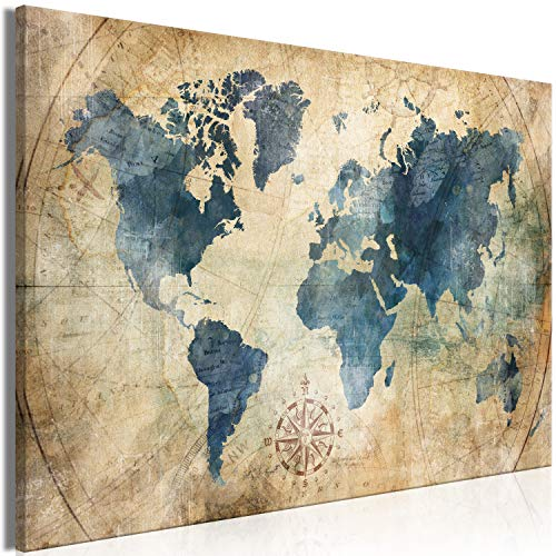 Murando Cuadro Mapa Mundo 120x80 cm - 1 Parte impresión