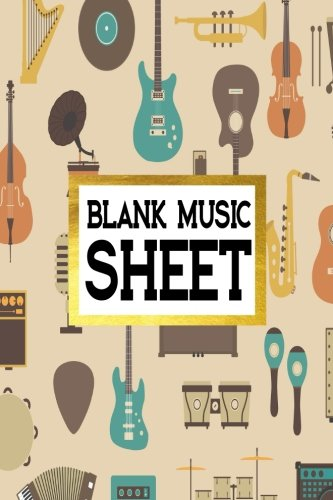Blank Music Sheet: Manuscript Paper 8 Stave Music Journal Piano Guitar 6x9, 100 pages: Volume 7 por Alia Leone