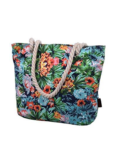 Douguyan tela di canapa variopinto di modo di svago del sacchetto di spalla della spiaggia all'ingrosso signore tote shoulder bag borse donna Ragazze canvas beach shopping women handbag 252F Colore H