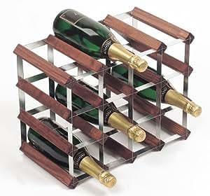 RTA From Samuel Groves Range-bouteilles en acier galvanisé et sapin pour 16 bouteilles
