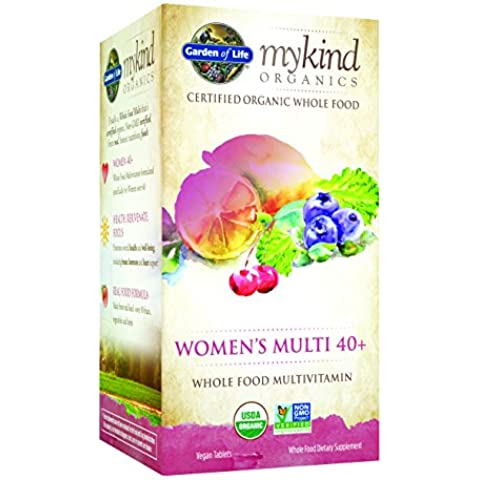 Garden of Life - Multi 40 + tutto cibo multivitaminico Organics gentile donna - 60 compresse vegetariane