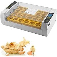 Blackpoolal Brutmaschine Vollautomatisch 24 Eier Motorbrüter Brutapparat mit LED Temperaturanzeige Flächenbrüter Brüter Inkubator für Enten, Hühner, Wachteln etc.