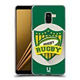 Head Case Designs Rugby Stemmi del Calcio Cover Morbida in Gel per Samsung Galaxy A8 (2018)