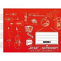 """STAR Notenheft Elementar """"BRUNNEN"""" 16 Blatt /A5 querformat (or.)"""