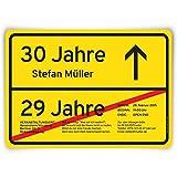 Einladungskarten zum Geburtstag (60 Stück) als Ortsschild Ortstafel Schild Straßenschild