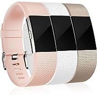 Für Fitbit Charge 2 Armband, HUMENN Charge 2 Armband Weiches Silikon Sports Ersetzerband Fitness Verstellbares Uhrenarmband für Fitbit Charge2