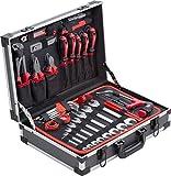 Meister Werkzeugkoffer 121-teilig - Stabiler Alu-Koffer - Werkzeug-Set - Für Haushalt, Garage & Werkstatt/Profi Werkzeugkoffer befüllt/Werkzeugkiste / Werkzeugbox komplett mit Werkzeug / 8971460
