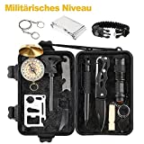 OCDAY Survival Kit, 13 IN 1 überlebens Kits Survival Outdoor Gear Kit Set mit Survival Armband Emergency Blanket Draht SAH Feuer Starter Whistle Survival Messer Taschenlampe Tactical Pen etc.