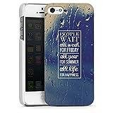 Apple iPhone 5 Coque Housse Case Etui Cover white - People Wait