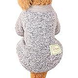 para el suéter de para mascotas, Sannysis caliente de la moda del perrito caliente del animal doméstico del perro ropa de perros suéter de lona suave nueva camiseta casual para perros gatos (L, Gris)