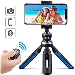 K&F Concept Mini Trepied Trépied de Table avec Support Gopro Pince Téléphone Télécommande Bluetooth pour Smartphone Appareil Photo Reflex DSLR Iphone Charge 3 kg