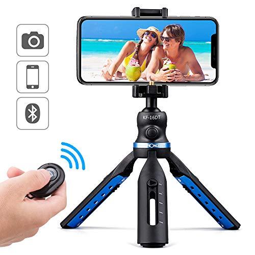 Handy Stativ K&F Concept KF-16DT Flexibles Smartphone Stativ Mini Stativ für Kamera iPhone Samsung Galaxy mit Bluetooth Fernbedienung