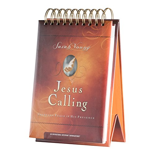 DaySpring Sarah Young's Jesus Calling Large Tabletop DayBrightener, Perpetual Flip Calendar, 366 Days of Inspiration (51202)