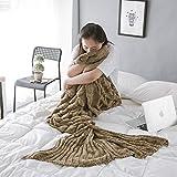 Maravilloso cola de sirena manta knit Crochet y sirena manta para adultos, verano Super suave sacos de dormir con suave