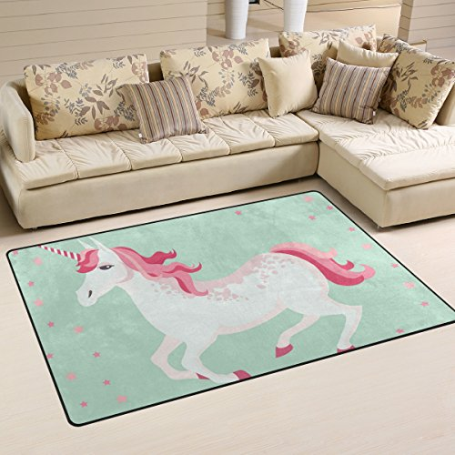 coosun Einhorn Bereich Teppich Teppich rutschfeste Fußmatte Fußmatten für Wohnzimmer Schlafzimmer...