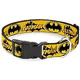 Buckle Down Vintage Batman Logo & Bat Signal 3gelb Kunststoff Clip Halsband