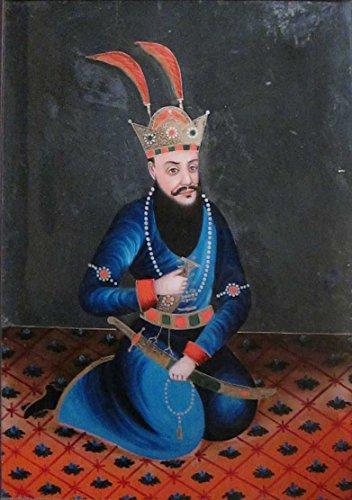 Das Museum Outlet-Anonymous Rückseite Malen auf Glas von einem persischen König, Western Indien, Ende 19. Jahrhundert-Poster Print Online (A3Poster)