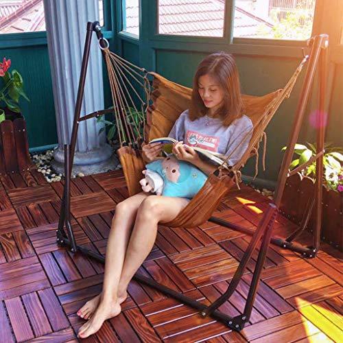 Rocking chair HealthUK Chaise balancelle Portable d'extérieur Pliante pour la Sieste avec Filet de Couchage et Tringle à vêtements
