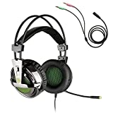 Gaming Cuffie Headset, Sades SA-928 Stereo leggera PC Gaming...