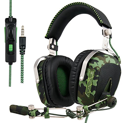 SADES Aktualisiert SA926T Kopfhörer PS4 Headset Stereo Xbox One Kopfhörer Gaming Headset Over-Ear-Kopfhörer mit Mikrofon für PS4 / Xbox One / PC / Mac / Smartphone / iPhone / iPad - Gaming-headset-mikrofon