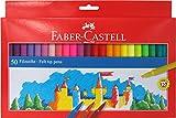Faber-Castell 554250 - Estuche 50 rotuladores  con punta de fibra, multicolor