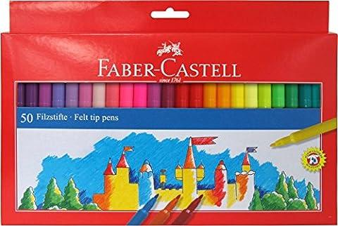 Faber-Castell 554250 Boîte de 50feutres Multicolore