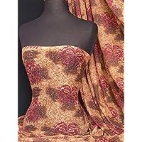 Helenka Mesh Stretch Dress Fabric | Light & Floaty Dance Wear Material | Sold By The Metre | By Tia Knight (Tie Dye Ethnic, 1 Metre)