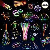 Whimsroom - Set fiesta 110 varitas luminosas multicolor con kit manualidades.