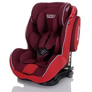 LCP Kids 37 Autokindersitz Saturn I-Fix - Gruppe I,II und III 9-36 kg, ECE R44/04 zertifiert - ISOFIX geeignet, rot/schwarz