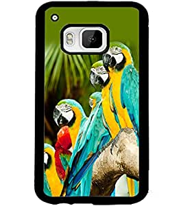 ColourCraft Lovely Parrots Design Back Case Cover for HTC ONE M9