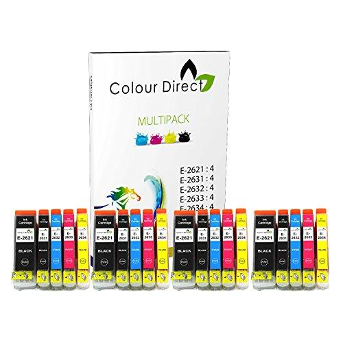 20 XL (4 Impostatos) Colour Direct Cartucce di inchiostro compatibili Sostituzione Per Epson XP-510 XP-600 XP-605 XP-610 XP-615 XP-620 XP-625 XP-700 XP-720 XP-800 XP-810 XP-820 Stampanti. - 26 XL