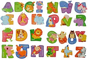 3d stickers muraux a z animaux cartoon alphabet repositionable qualit paillet e 2. Black Bedroom Furniture Sets. Home Design Ideas
