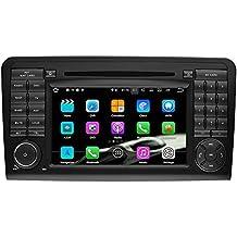 SAVORI Android 7.1.1 Nougat 2GB RAM 2 din In Dash 7 Zoll Autoradio Moniceiver DVD GPS Navigation für Mercedes-Benz ML-W164/W300/ML350/ML450/ML500(2005-2012) GL-X164/G320/GL350/GL450/GL500(2005-2012) Support Bluetooth WIFI SD USB AV-IN DVR SWC OBD2