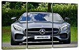 Printed Paintings Impression sur Toile 3 pièces(120x80cm): Photos Voiture Mercedes AMG Avant droi