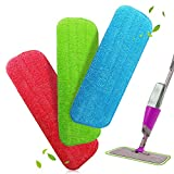 Alcoon Mop Microfaser Reinigung Pads für Spray Mops und Reveal Mops Waschbar 42 x 14 cm, 3 Stück