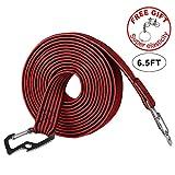 AUVSTAR Elasticated Luggage Rope, Universal Heavy Duty Bicicletta Rack Strap Bungee Cord con gancio in acciaio al carbonio, adatto per biciclette, auto elettriche, motocicli (4M-rosso)