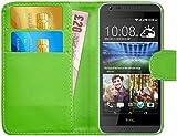 G-Shield Hülle für HTC Desire 620/620g Klapphülle mit Kartenfach - Grün