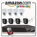Anni CCTV Sistema de Seguridad 8CH 1080p HD TVI 5-en-1 DVR,4X 720p Exterior a Prueba...